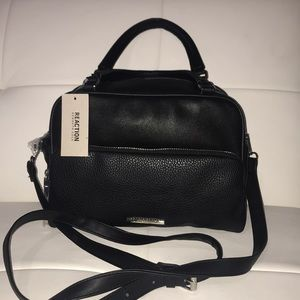 Kenneth Cole black satchel crossbody doctor bag